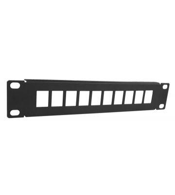 UTP patch panel for keystones - 10 ports