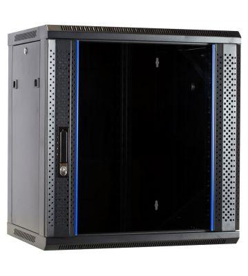 12U wall rack with glass door 600x450x635mm