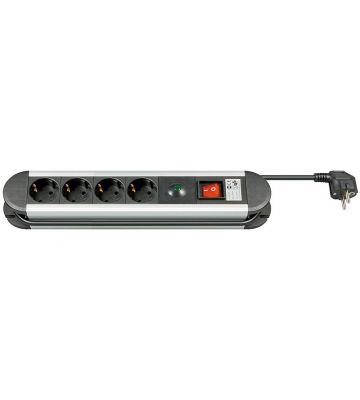 4-way power outlet with overvoltage protection 1,50m black