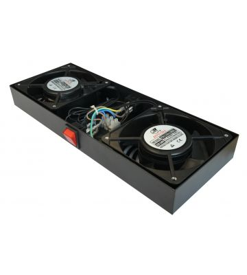 Fan-set with 2 fans suitable for wall mount racks
