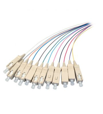 OM3 fibre optic pigtail coloured set SC - 12 pieces