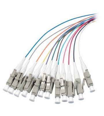 OM3 fibre optic pigtail coloured set LC - 12 pieces