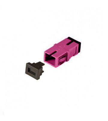 Multimode keystone coupling SC-SC simplex purple