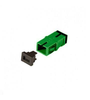 Singlemode keystone coupling SC-SC simplex green