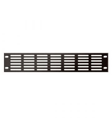 19 inch perforated cover panel - 2U
