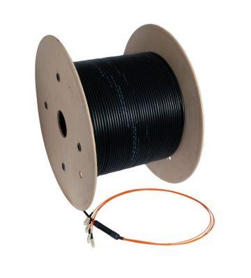 OM3 fibre optic cable custom made 8 fibres incl. connectors
