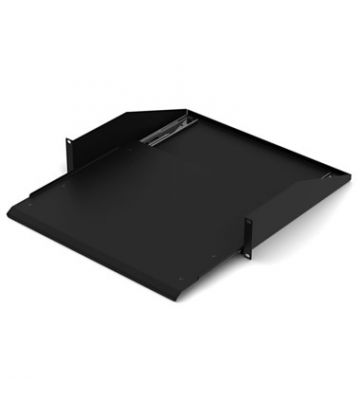 Extendible shelf for regular and wall mount server rack with min. 600mm depth