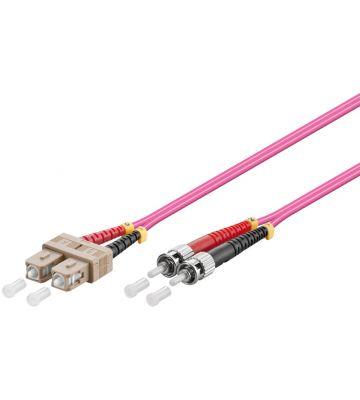 Fibre optic cable SC-ST OM4 1m