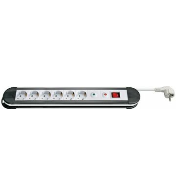 6-way power strip with overvoltage protection 1,50m white