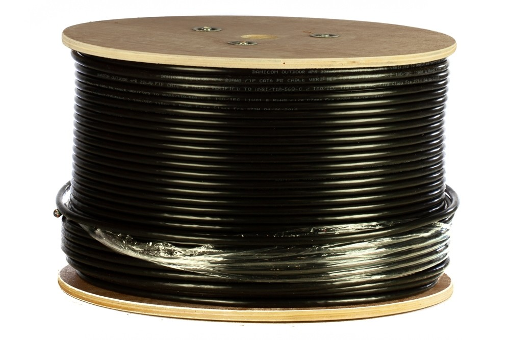 Afbeelding van DANICOM CAT6 FTP 305m outdoor cable on a reel solid - PE (Fca)