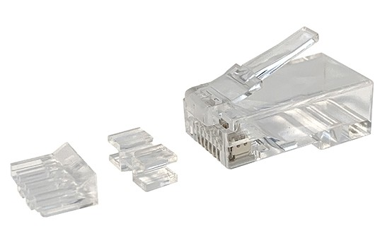 Afbeelding van CAT6a connector RJ45 unshielded with joint-piece - for solid cable