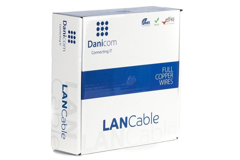 Afbeelding van DANICOM CAT6A S/FTP 50m on a reel solid - LSZH (Eca)