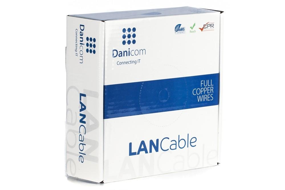 Afbeelding van DANICOM CAT5E UTP 100mon a reel solid - PVC (Eca)