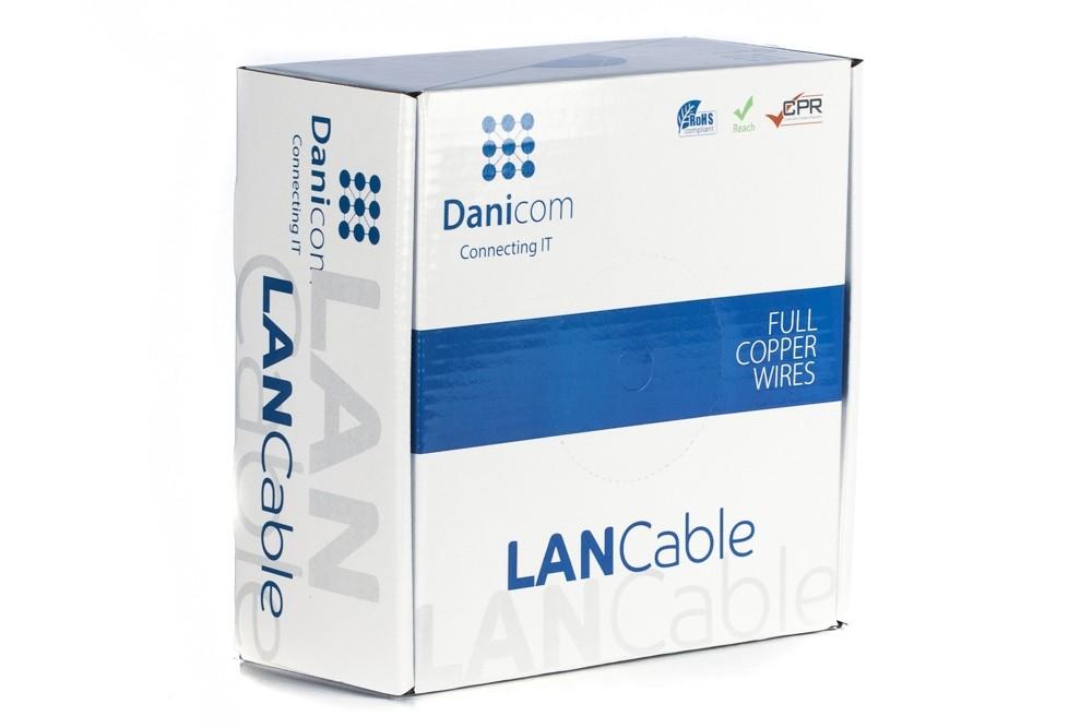 Afbeelding van DANICOM CAT6 UTP 100m on a reel solid - PVC (Eca)