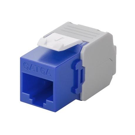 Afbeelding van CAT6a UTP Keystone Connector - LSA - blue
