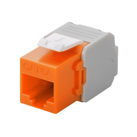 Afbeelding van CAT6a UTP Keystone Connector - LSA - orange