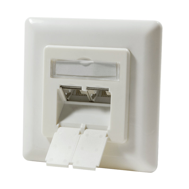 Afbeelding van CAT6 UTP / STP flush-mounted box vertical, ivory