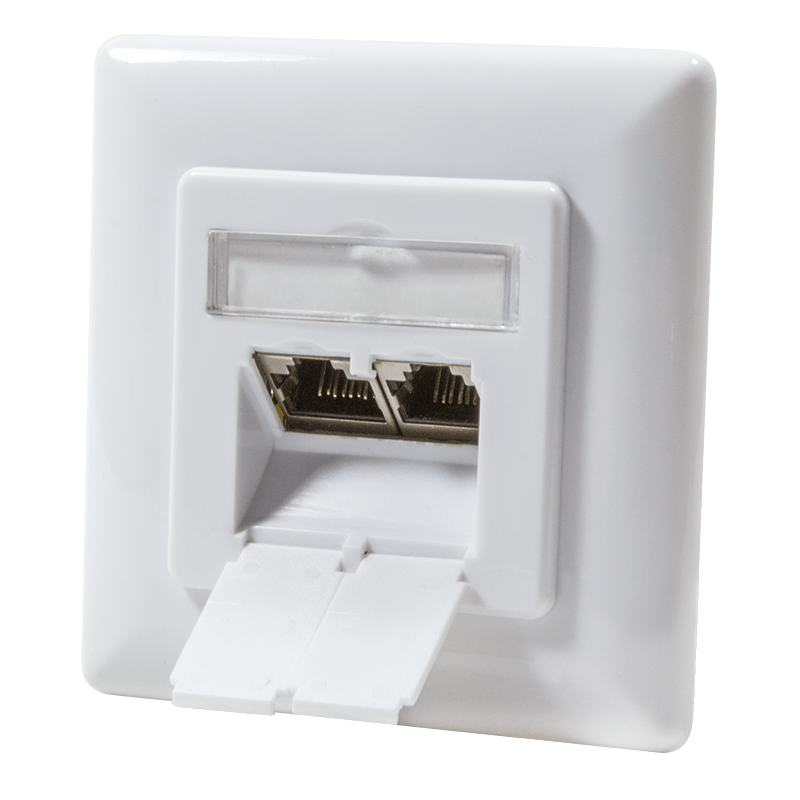 Afbeelding van CAT6 UTP / STP flush-mount box, white