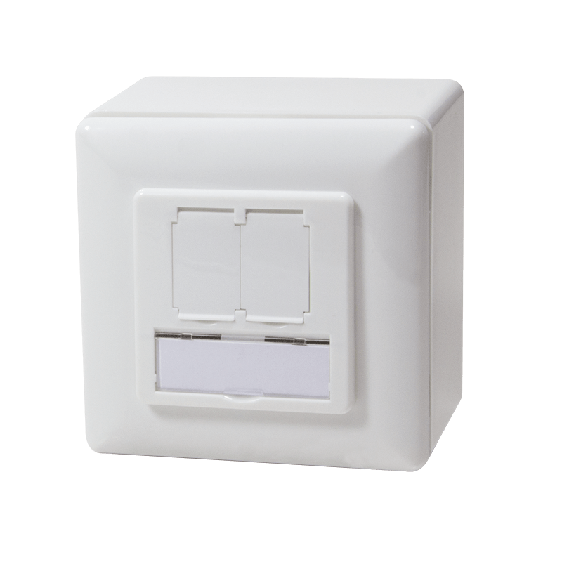 Afbeelding van CAT5e UTP / STP surface-mount box, white