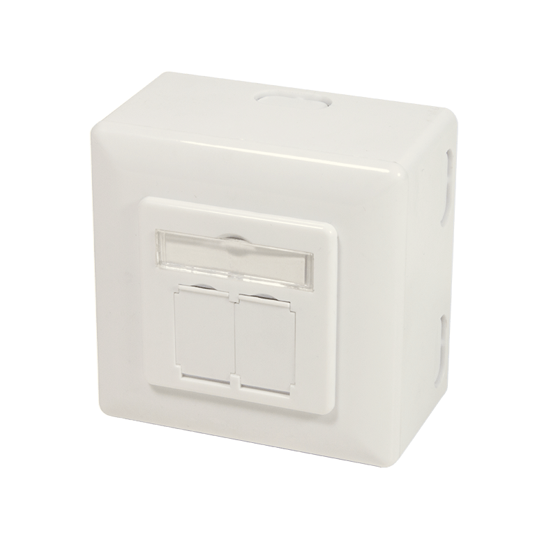 Afbeelding van CAT6 UTP / STP surface mount box, ivory
