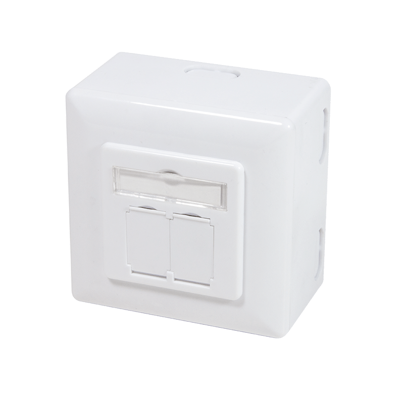 Afbeelding van CAT6a UTP / STP surface mounted socket, white