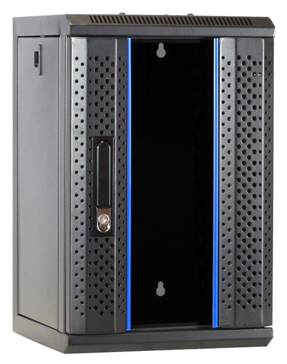 Afbeelding van 10 inch 9U server cabinet with glass door 312x310x486mm (WxDxH)
