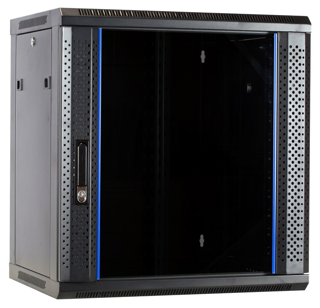 Afbeelding van 12U unassembled wall-mount server cabinet with glass door 600x450x635mm