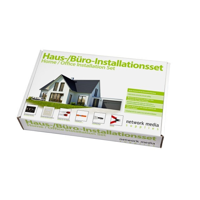 Afbeelding van CAT6 STP installation set Plus for home and office - 50m