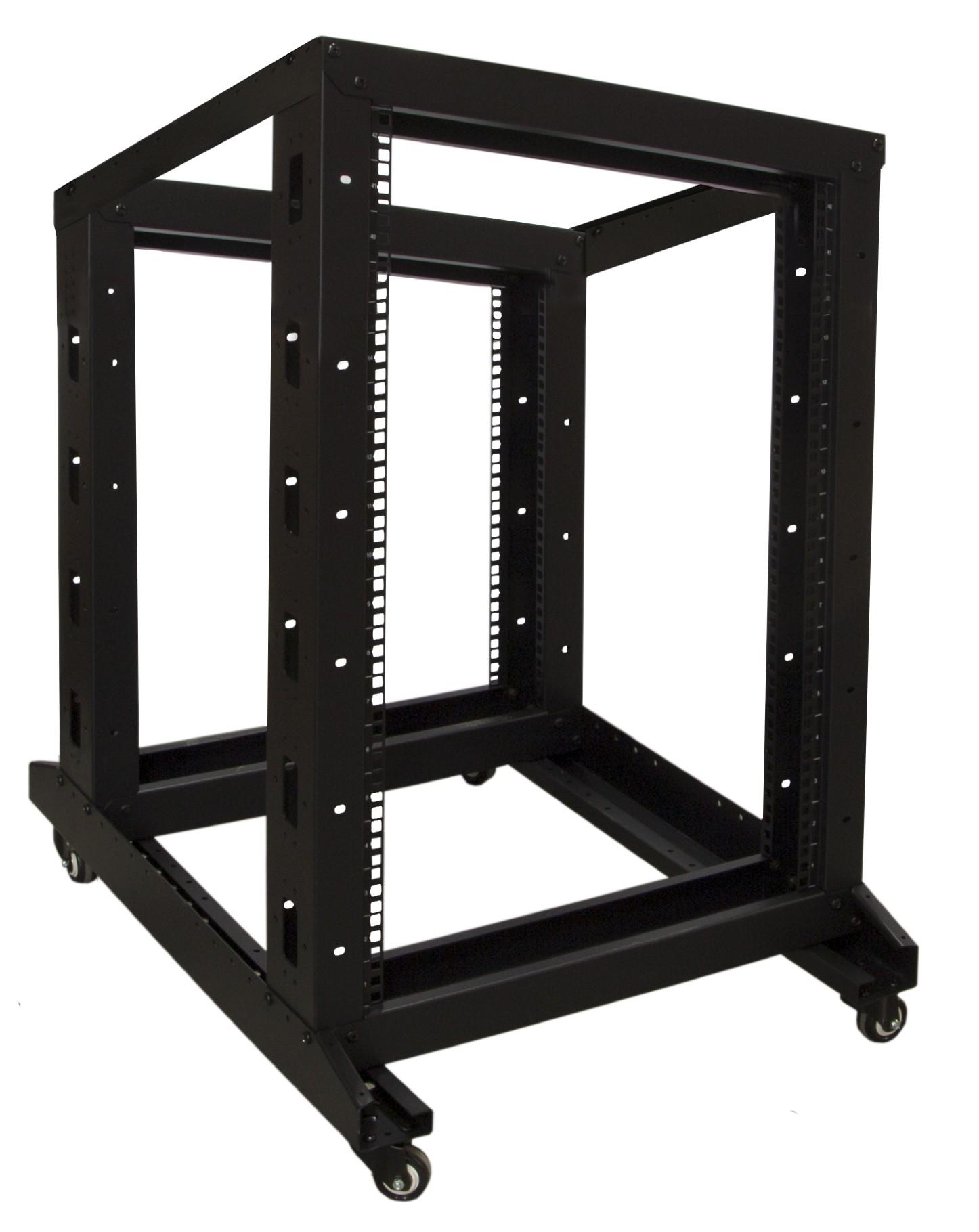Afbeelding van 18U relay rack on castors 600x800x1000mm