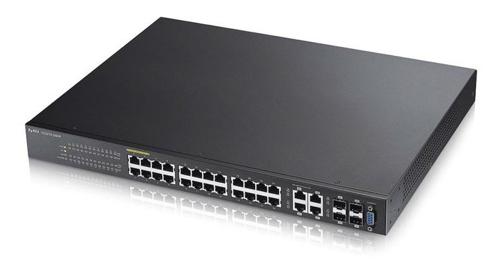 Afbeelding van Zyxel 24-ports GS2210 managed PoE+ switch