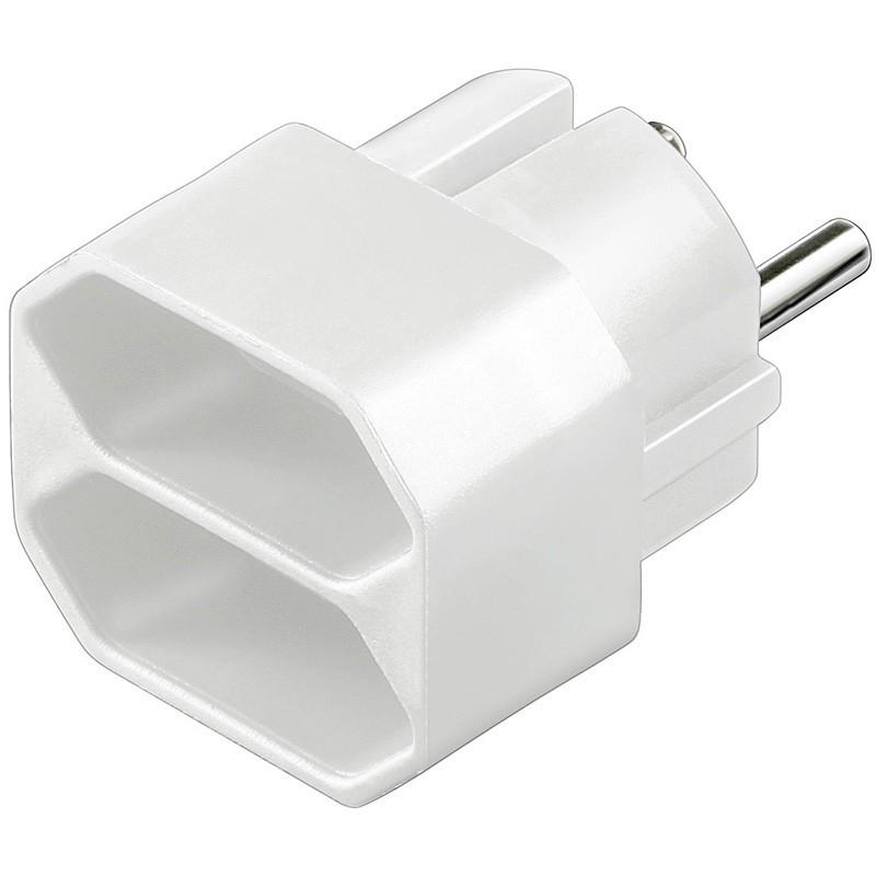 Afbeelding van Plug adapter 2x europlug white