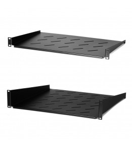 Universal shelves for wall-mount server cabinets